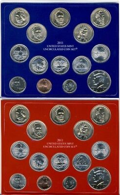 2011 P & D US Mint Uncirculated 28 Coin Set (U11)