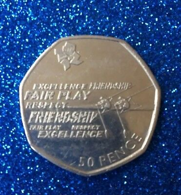 2011 Olympic 50P Coin Rowing