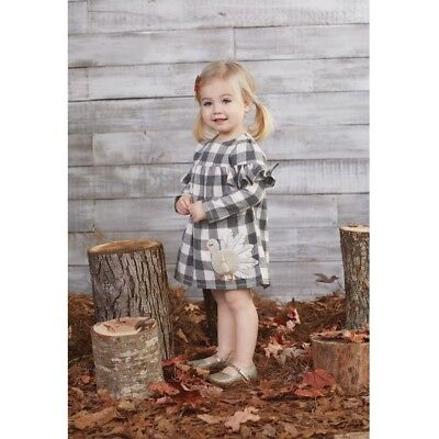 Girls' Clothing (newborn-5t) Mud Pie H7 Baby Girl Check Puppy Gray One-piece Sleeper 1162024 Choose Size Baby & Toddler Clothing