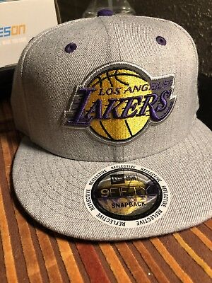 competitive price 29752 e4c0a Los Angeles Lakers New Era NBA Heather Gray 9FIFTY Snapback Cap