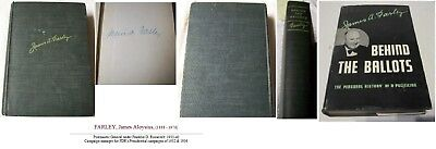 James A Farley FDR's Postmaster General 1933-1940 Behind the Ballots signed book