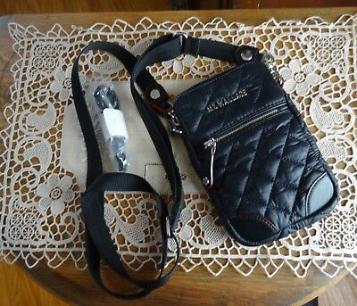 0a489081dff6 MZ Wallace NY Black with Silver Hardware MICRO CROSBY crossbody bag purse