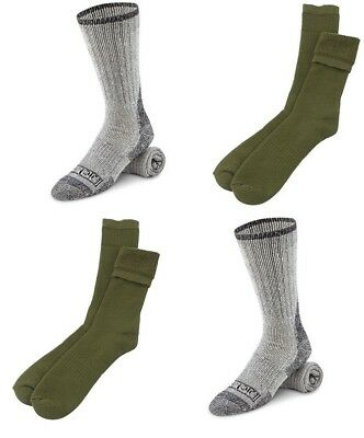 (2)DICKIES & (2)OD Military Wool Boot Socks Cold Weather Work Men's Large Warm