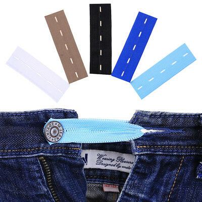 5/6/10PCS Elastic Waist Extenders Strong Adjustable Pants Button Extenders P