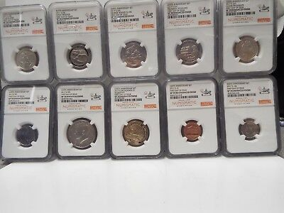 2017 S enhanced coin set 225th anniversary ngc sp70 first day issue ANA-rare set