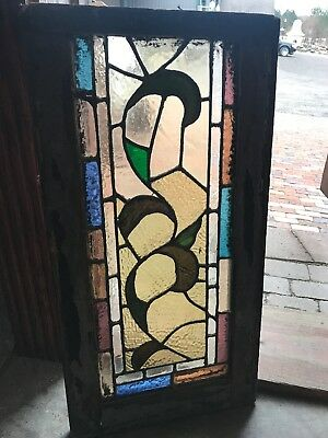 SG 2692 Antique Stainglass Transom Window 14 5/8 X 28 1/4