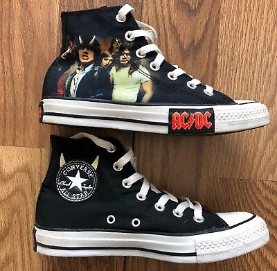 AC/DC HIGHWAY to HELL CONVERSE CHUCK TAYLOR LIMITED EDITION HIGH TOP Size 5/7