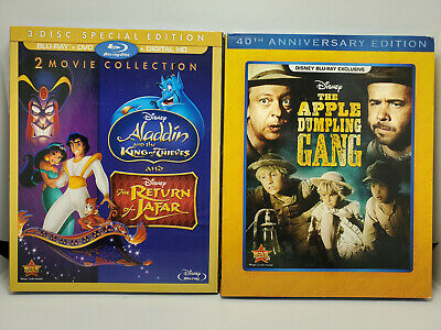 Return of Jafar/Aladdin King of Thieves/ Ferdinand Blu-ray+Slip Cover No Digital