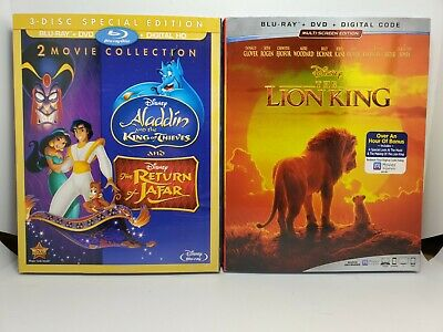 Return of Jafar/Aladdin King Thieves/How 2 Train Dragon 2 Blu-ray+Slip NoDigital