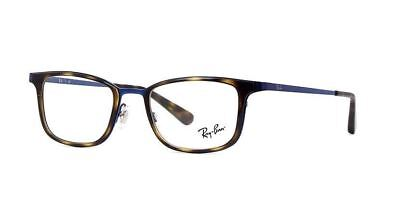 d316a08fd2 Authentic Ray Ban Eyeglasses RB6373M 2924 Havana on Blue Frames RX-ABLE 52MM