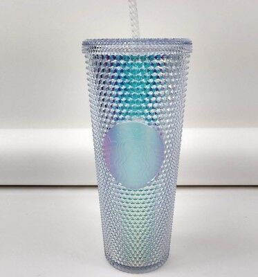 Starbucks 2018 Holiday Rainbow Hologram Iridescent Tumbler Cold Cup 24oz New!
