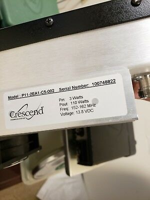 Crescend VHF Repeater Power Amplifier 3 watts in 110 watts out 152-162MHz