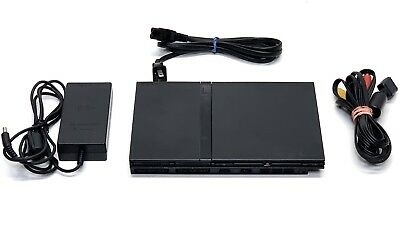 Sony PlayStation 2 Slim PS2 Black Console SCPH-70001, Power Cord & AV Cord Only