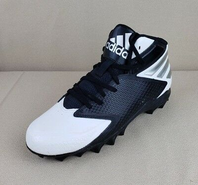 on sale 63871 ceabd Adidas Freak MD Football Cleats Black  White  Silver B42358 Mens ...
