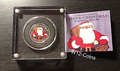 2018 Santa From The Snowman Coloured 50p Silver Proof Coin