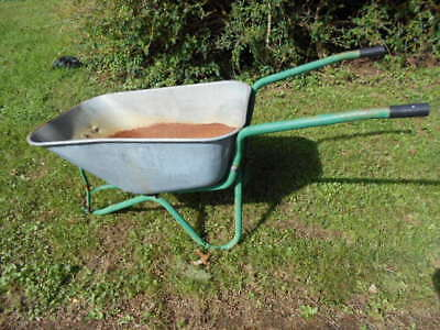 Antique 1960's Metal Wheelbarrow/Nice Display for Garden/Missing Front Wheel