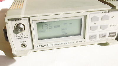 EUC Leader LF 941 TV Signal Level Meter w/ Carrying Bag and Coax cable