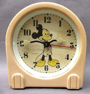 1949 US Time MICKEY MOUSE alarm clock working DISNEY *