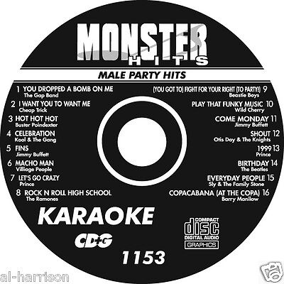Karaoke Monster Hits Cd+G  Male Party Hits   #1153