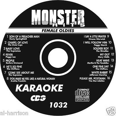 Karaoke Monster Hits Cd+G Female Oldies #1032
