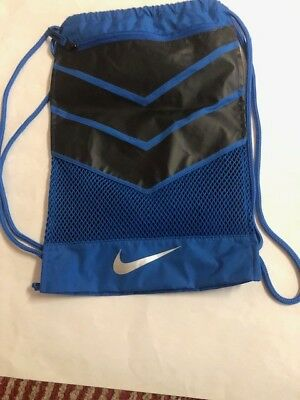 3a5436ca52dd NIKE ALPHA ADAPT Gymsack Royal Blue blk Drawstring Bag Backpack Gym ...