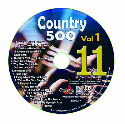 Karaoke Chartbuster Cd+G Country 500 Cb8532 Vol.1 Disc # 11
