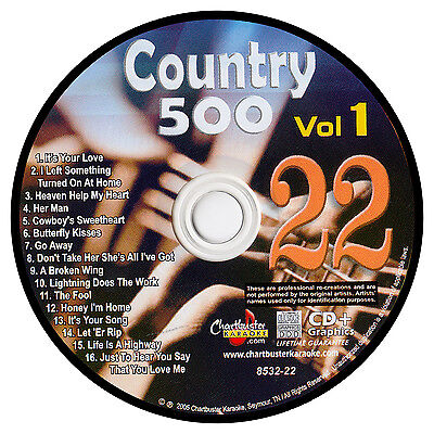 Karaoke Chartbuster Cd+G Country 500 Cb8532 Vol.1 Disc # 22