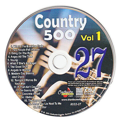 Karaoke Chartbuster Cd+G Country 500 Cb8532 Vol.1 Disc # 27