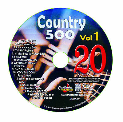 Karaoke Chartbuster Cd+G Country 500 Cb8532 Vol.1 Disc # 20