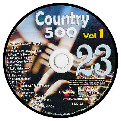 Karaoke Chartbuster Cd+G Country 500 Cb8532 Vol.1 Disc # 23