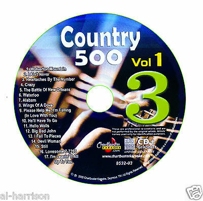 Karaoke Chartbuster Cdg Country 500 Vol.1 Disc Cb8532  Disc #3