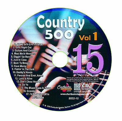 Karaoke Chartbuster Cd+G Country 500 Cb8532 Vol.1 Disc # 15