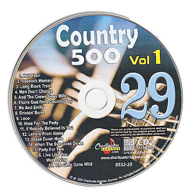 Karaoke Chartbuster Cd+G Country 500 Cb8532 Vol.1 Disc # 29