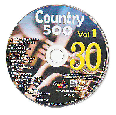 Karaoke Chartbuster Cd+G Country 500 Cb8532 Vol.1 Disc # 30