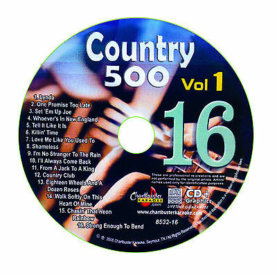 Karaoke Chartbuster Cd+G Country 500 Cb8532 Vol.1 Disc # 16