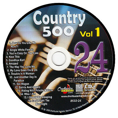 Karaoke Chartbuster Cd+G Country 500 Cb8532 Vol.1 Disc # 24