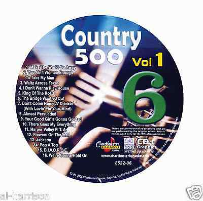 Karaoke Chartbuster Cd+G Country 500 Cb8532 Vol.1 Disc # 6
