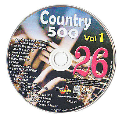 Karaoke Chartbuster Cd+G Country 500 Cb8532 Vol.1 Disc # 26