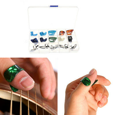 Set of 15 Nail Thumb Finger Picks Plectrum Acoustic Electric Classical Guitar