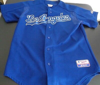 85d76eab9 LOS ANGELES DODGERS Baseball MAJESTIC Sewn Blank LARGE Jersey MLB Free  Shipping