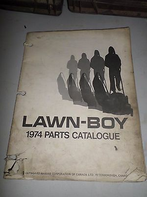 Vintage OMC Lawn Boy 1974 Lawnmower and Engine Parts Catalogue Catalogue