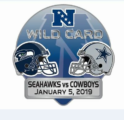 2019 Nfc Wild Card Playoff Pin Dueling Team Seattle Seahawks Dallas Cowboys