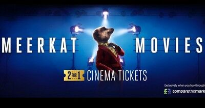 2 for 1 Meerkat Cinema Movie Voucher E-Code By Text/Email For Tue Or Wed Coming