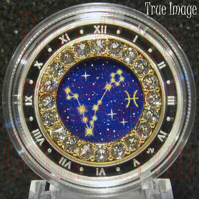 2019 Pisces Zodiac Series#3 $5 Pure Silver Coin with Swarovski Crystal Canada