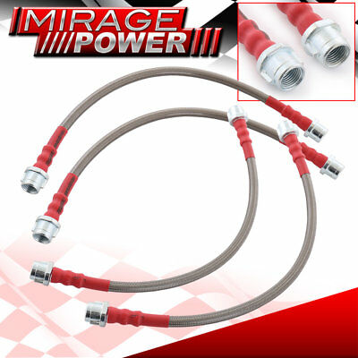 Stainless Steel Braided Hose Racing Oil Brake Line Red Cap For 98-05 911 996