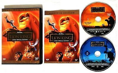 The Lion King (DVD, 2003, 2-Disc Set, Platinum Edition) Disney