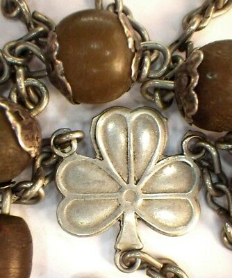 ⭐ Rosary Rosaries Vintage Sterling Celtic ✞ Cattle Horn Beads ☧ Irish Priests