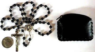 ⭐ Vintage Sterling Rosary Rosaries ✞ Priests Lucite Beads ☧ Catholic Afco 1950's