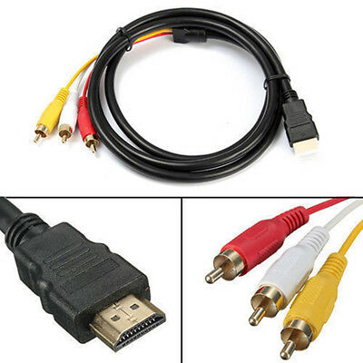 Adapter Cable Video Audio AV Connection Line HDMI to 3-RCA Converter HDTV