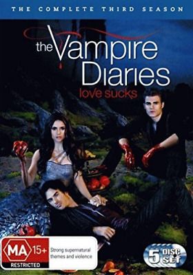 THE VAMPIRE DIARIES-Love Sucks Season 3 (UK IMPORT) DVD [REGION 2] NEW